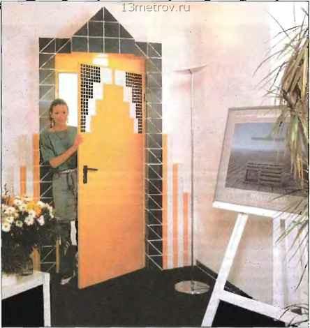 оригинальная отделка входной двери
